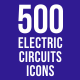 500 Electric Circuits Icons Bundle