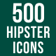 500 Hipster Icons Bundle