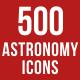 500 Astronomy Icons Bundle