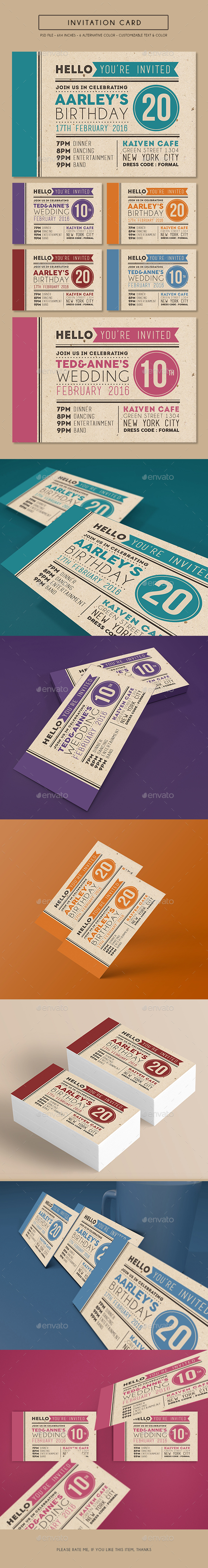 Colorfull Invitation Card