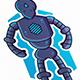 Robot Mascot Logo Template