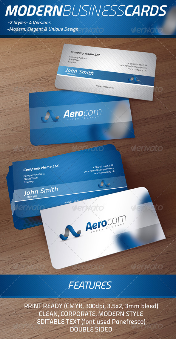 Modern Business Cards - B1 - Corporate Business Cards