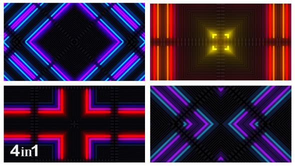 VideoHive Colorful Light Flashing Abstract 4-Pack 14933310