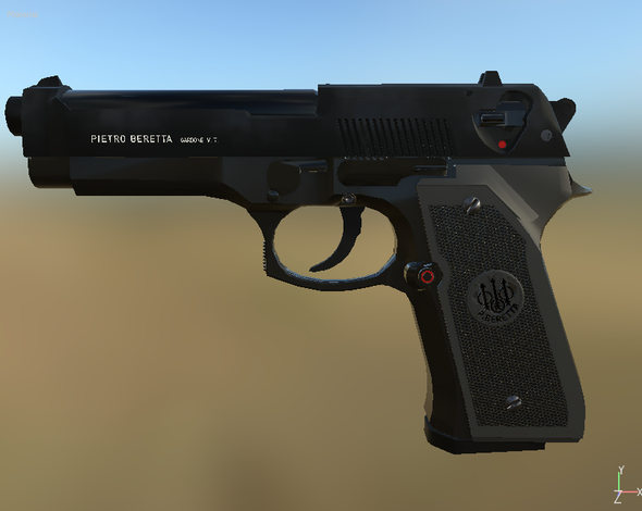 Beretta 92 - 3DOcean Item for Sale