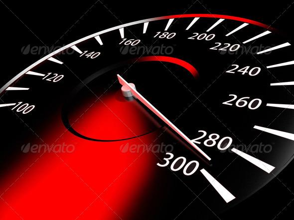 PhotoDune Close up of car speed meter 1495296