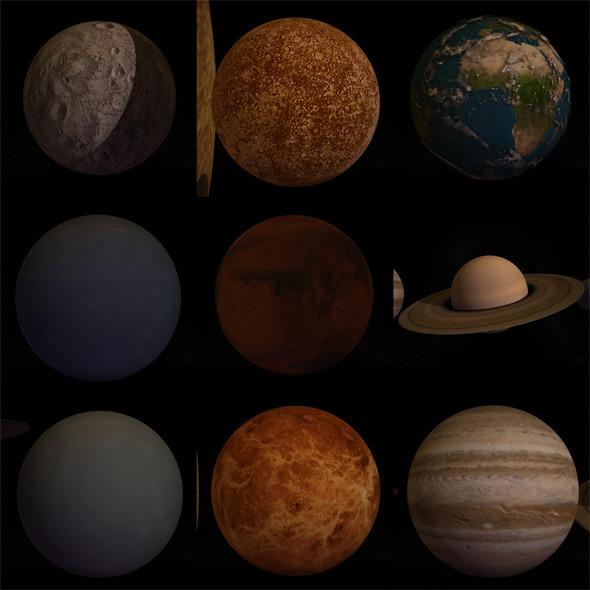 3DOcean 10 Pieces Planet 1494216