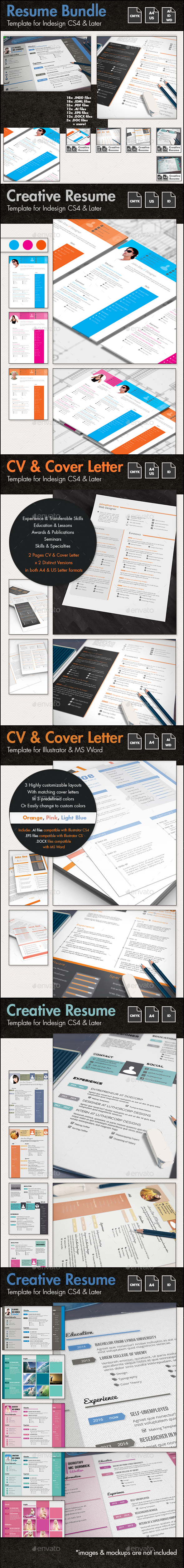 The Ultimate CV and Resume Template Bundle