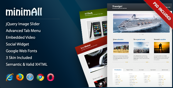 ThemeForest minimAll Landing Page 164590
