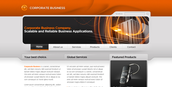 ThemeForest Business Template #06 58965