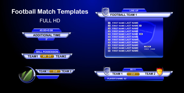 After Effects Project - VideoHive Footballmatch Templates 1495406