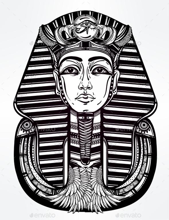 Tattoo Vector Art of Pharaoh