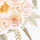 6 vintage floral bouquets