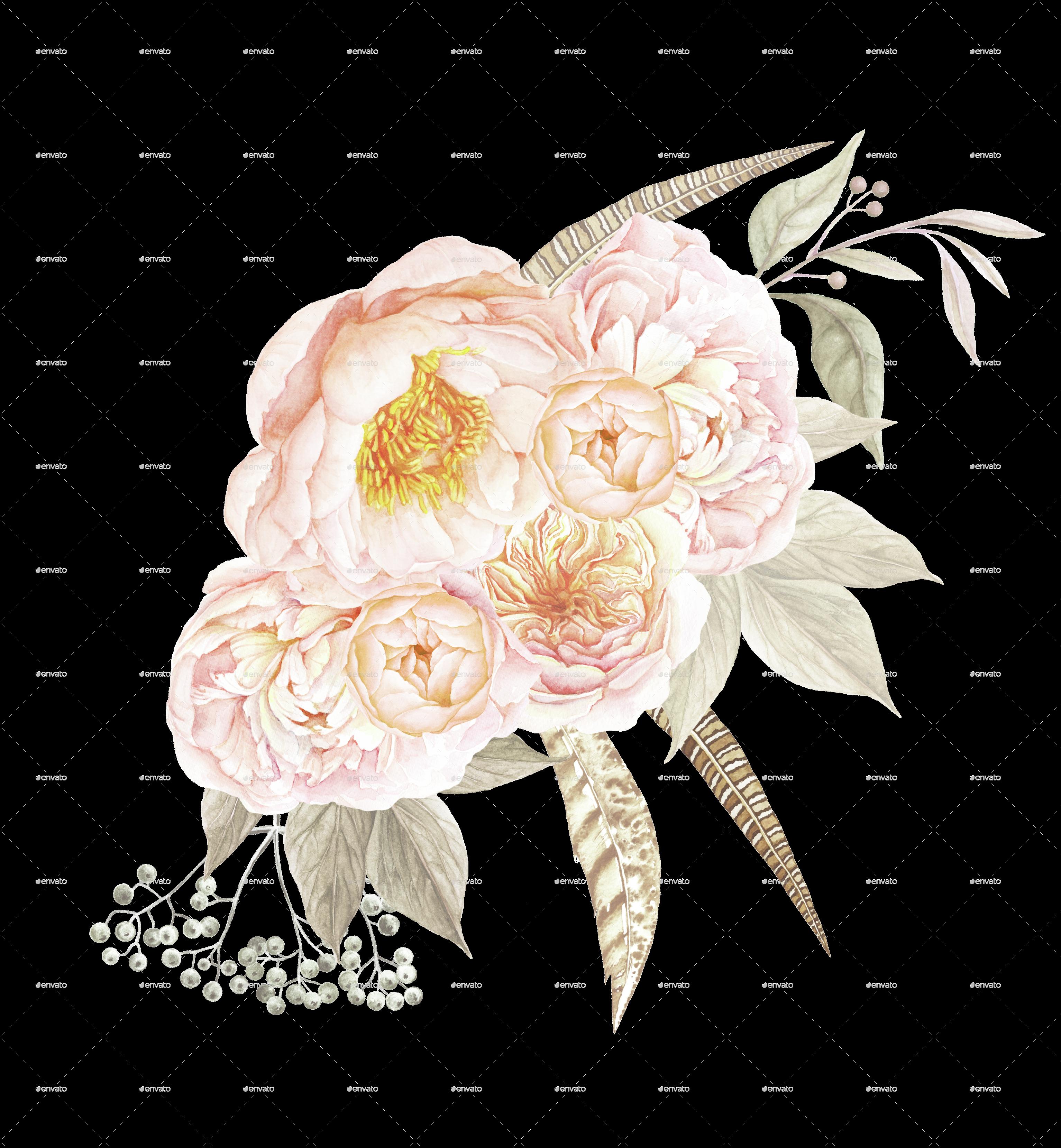 Decorative Floral Arrangements Home 6 Vintage Floral Bouquets By Larabriffa Graphicriver