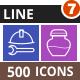 500 Vector Multicolor B/G Line Icons Bundle (Vol-7)