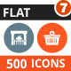 500 Vector Colorful Round Flat Icons Bundle (Vol-7)