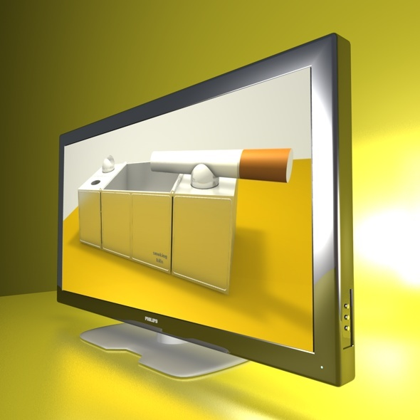 3D TV chrome - 3DOcean Item for Sale
