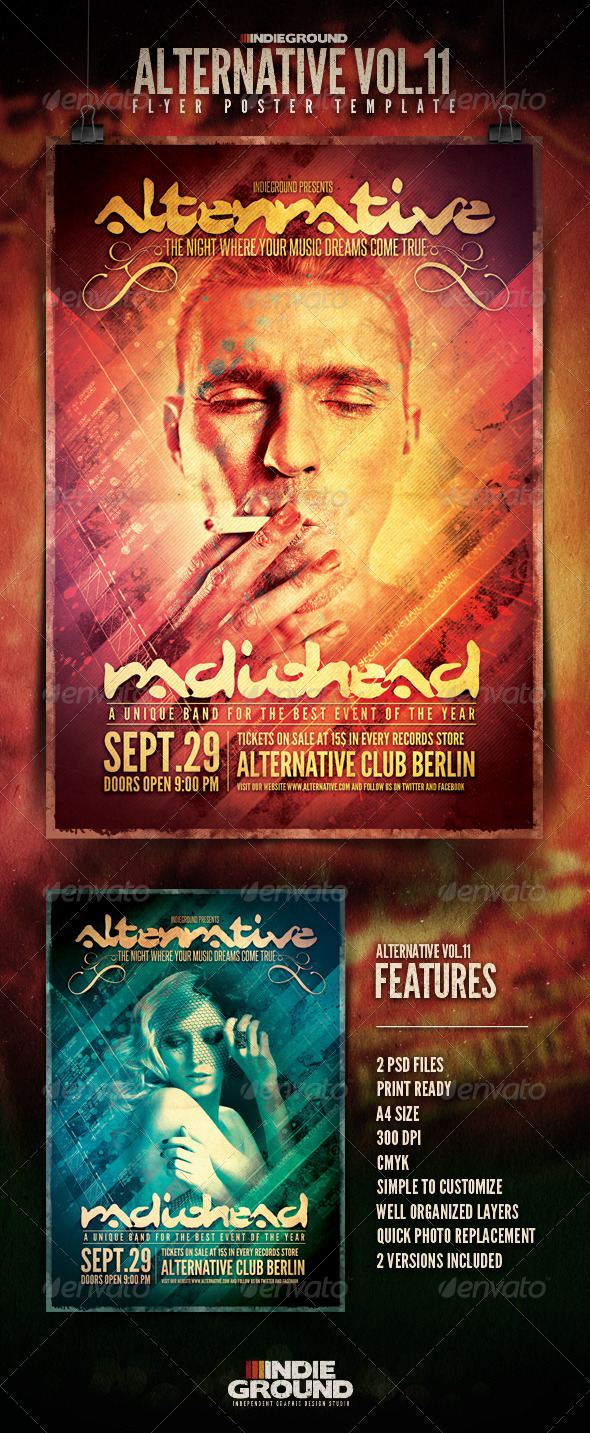 Alternative Flyer/Poster Vol. 11 - Clubs & Parties Events