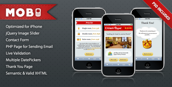 ThemeForest Mobi iPhone Landing Page 165867
