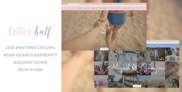 7. Better Half - Responsive Wedding HTML Template