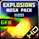 Explosions Blasts Bursts Detonations MEGA PACK 01