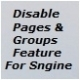 Disable Pages And Groups Feature-Addon For sngine v2