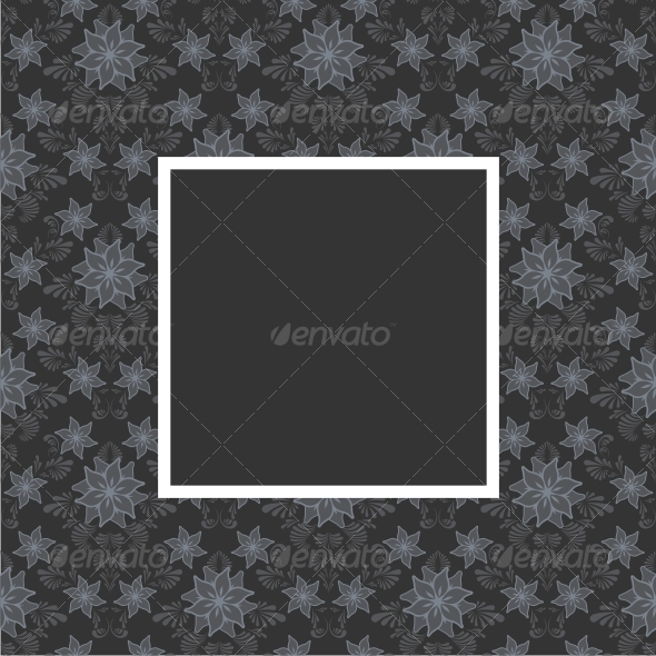 Floral frame - Backgrounds Decorative