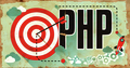 PHP on Grunge Poster.