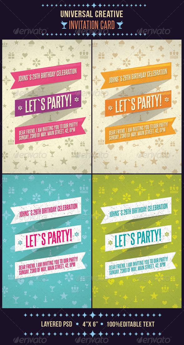 GraphicRiver Universal Creative Invitation Card 1496172