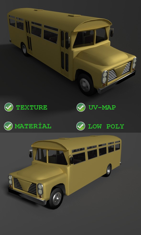 Old bus incasel 1961 - 3DOcean Item for Sale
