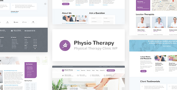 24 - Physio - Physical Therapy & Medical Clinic WP Theme