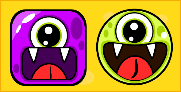 Cute Monsters tic tac toe html5 game - CodeCanyon Item for Sale