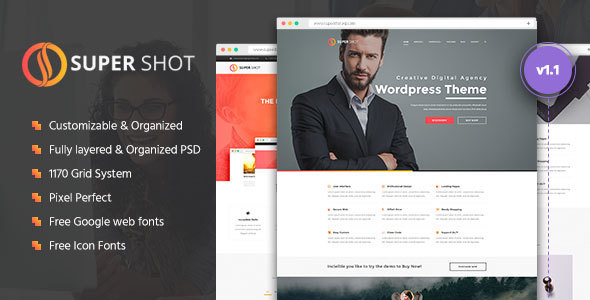 SuperShot | Creative PSD Template
