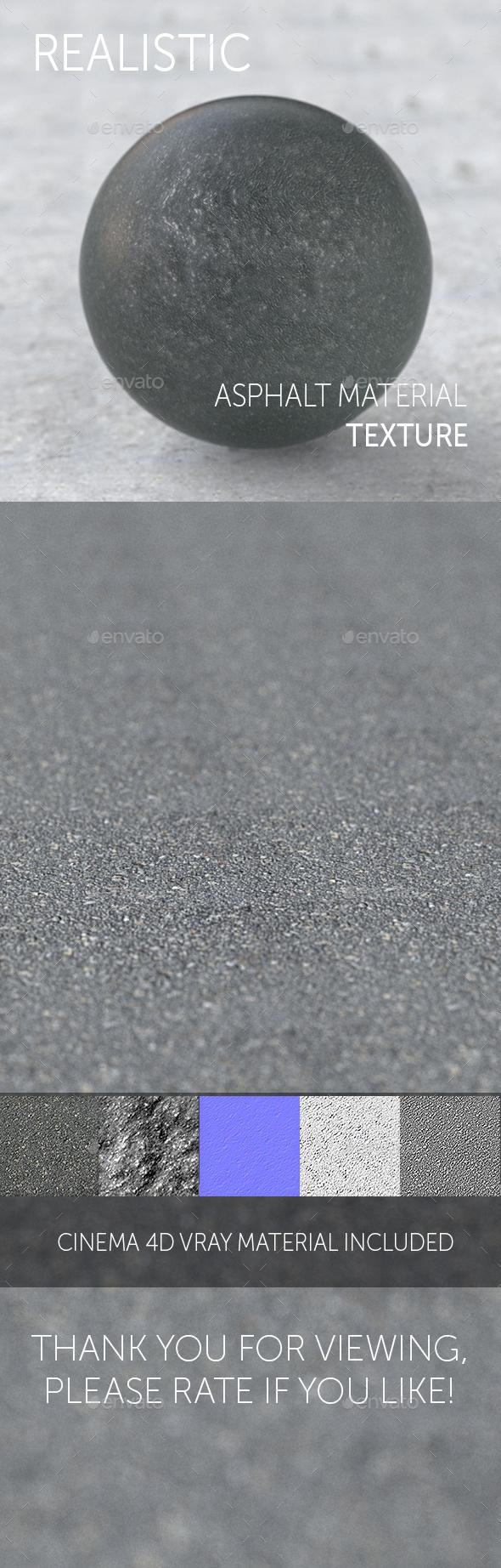 Asphalt realistic texture - 3DOcean Item for Sale