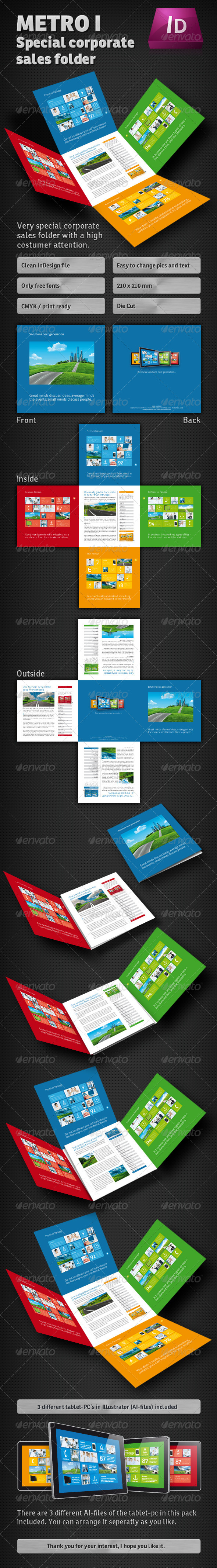 Metro I Sales Folder - Corporate Flyers