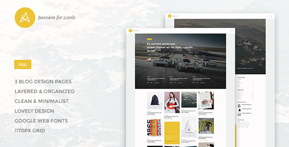 Artistry - Blog/Magazine PSD Theme