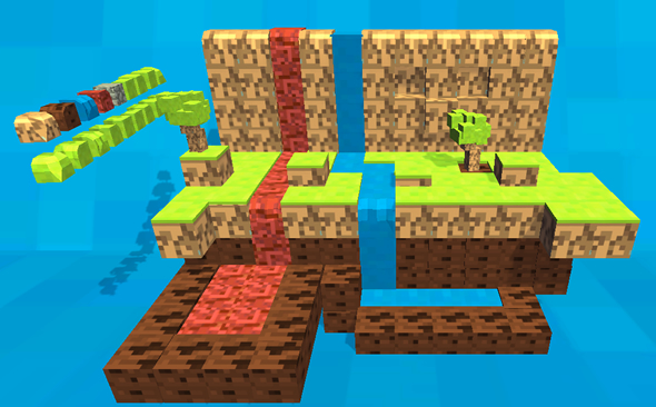 Craft blocks world mega pack - 3DOcean Item for Sale
