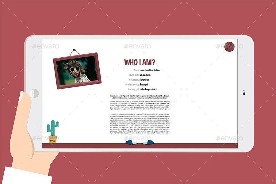 illustrated interactive pdf resume graphicriver