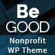 Be Good Nonprofit Multi-purpose WordPress Theme