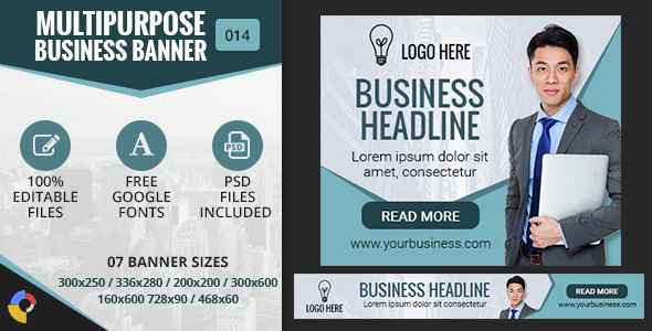 Download GWD | Multipurpose Business HTML5 Banners - 7 Sizes nulled download