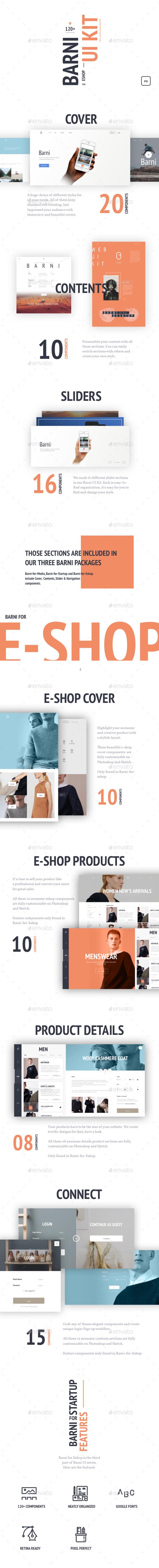 Barni for Eshop UI Kit (User Interfaces)