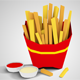 Low Poly French Fries