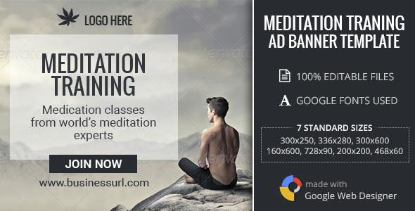 GWD | Meditation Training HTML5 Banners - 07 Sizes
