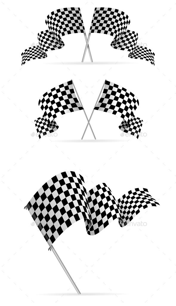 Racing Flag Avto Set