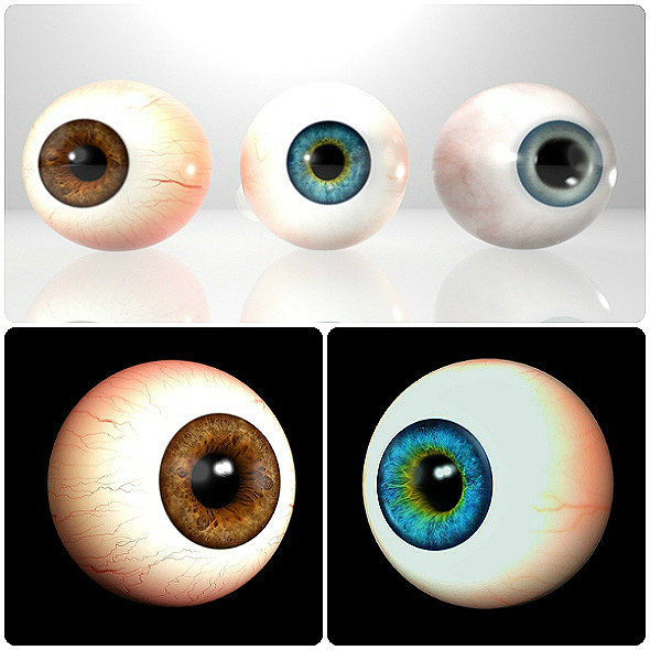3D Realistic Eyes Collection - 3DOcean Item for Sale