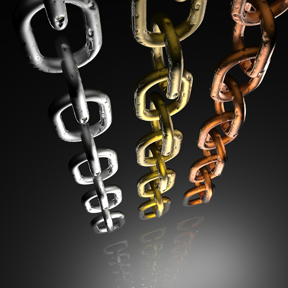 3D Chain Dent - 3DOcean Item for Sale