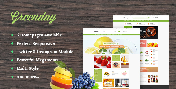 Image of Leo Green Responsive Prestashop Theme