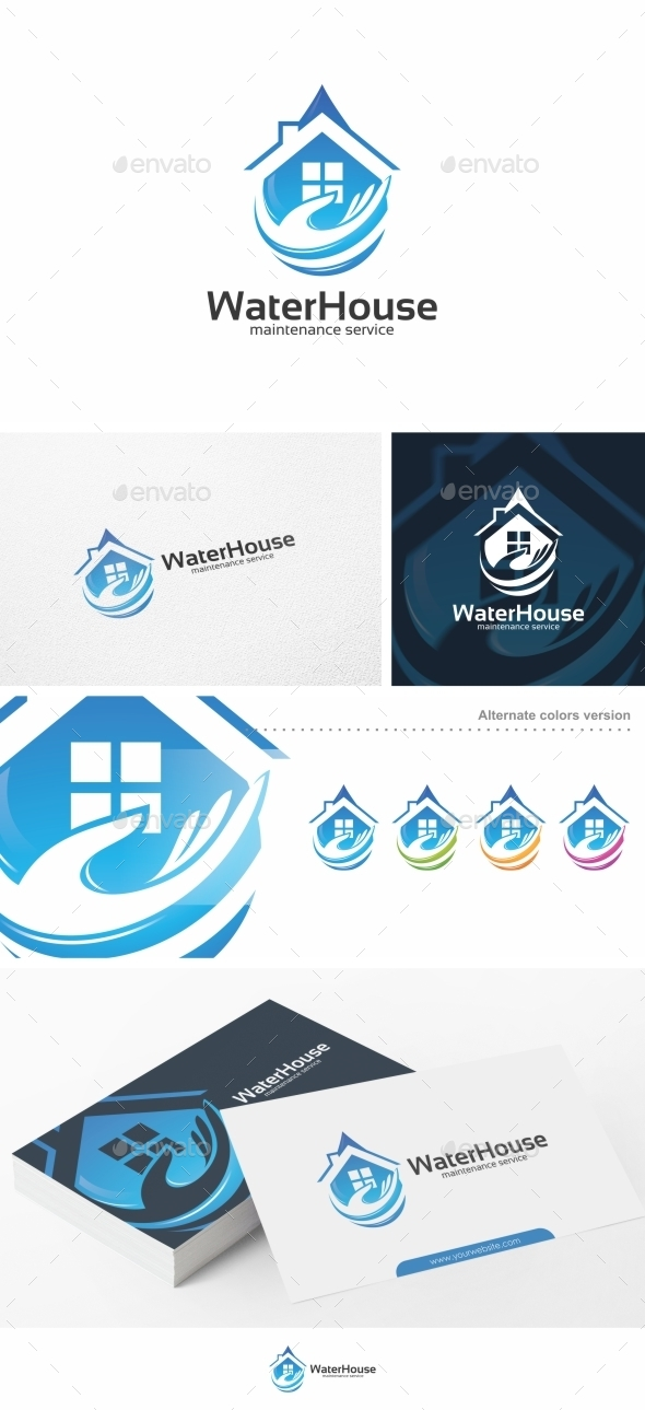 Water House - Logo Template
