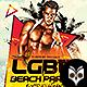 LGBT Beach Party Flyer