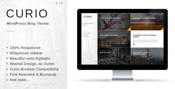 Curio – Responsive Minimal Blog Theme