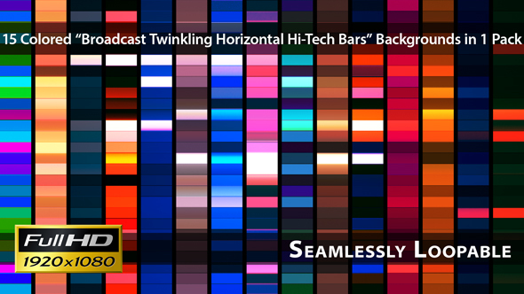 Broadcast Twinkling Horizontal Hi-Tech Bars Pack 03